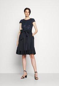 Lauren Ralph Lauren - ZIARAH CAP SLEEVE DRESS - Cocktail dress / Party dress - lighthouse navy - 1