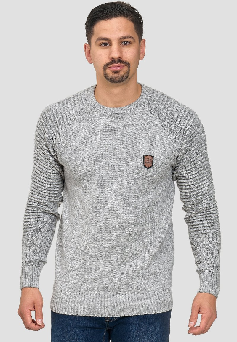 INDICODE JEANS Strickpullover - charcoal/dunkelgrau r3QAfc