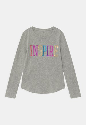 GIRLS HOLOGRAPH INTERACTIVE - Long sleeved top - light heather grey