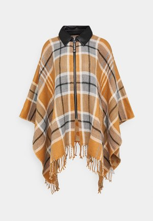 PONCHO CHECKS - Ponczo - brown
