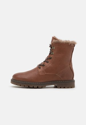 MAIA - Lace-up ankle boots - cognac