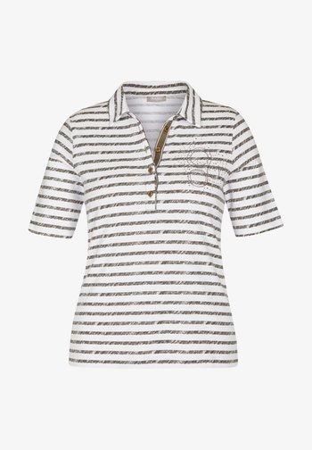 MIT STRASS-STEINEN UND STREIFEN - Polo shirt - braun