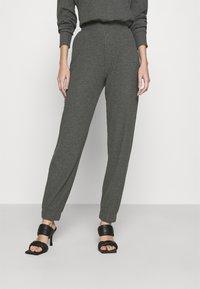 ONLY - ONLNELLA PANTS - Tracksuit bottoms - dark grey melange - 0