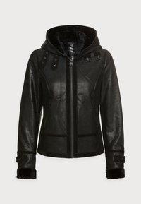 Freaky Nation - ARCTIC DAY - Leather jacket - black - 3