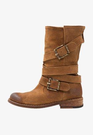 GREDO - Cowboy-/Bikerlaarzen - brown