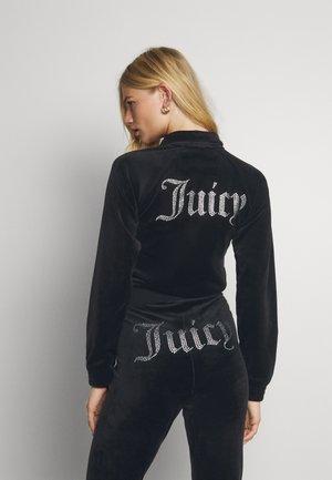 TANYA - Zip-up sweatshirt - black