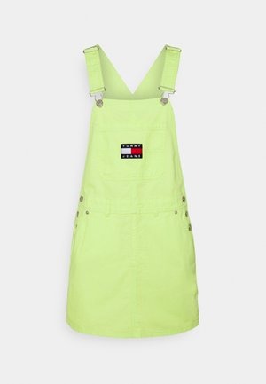 DUNGAREE DRESS - Sukienka jeansowa - faded lime