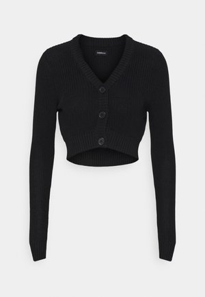 CROPPED CARDIGAN - Gilet - black