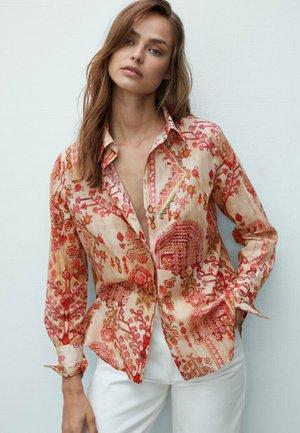Button-down blouse - ochre