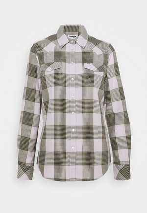 WESTERN CHECK - Button-down blouse - iris purple