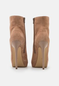Even&Odd - LEATHER - High heeled ankle boots - sand - 3