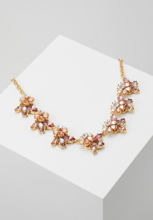 PCMADDELINA STONE NECKLACE - Halskæder - gold coloured/ash rose/champagne