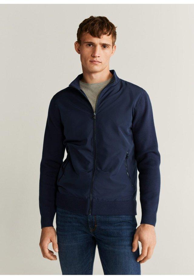 Zip-up hoodie - royal blue