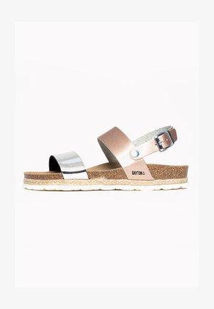 TONE - Sandały na koturnie - silver
