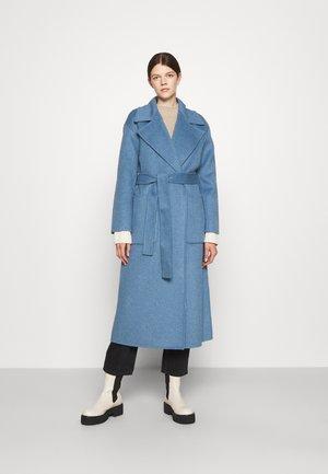 DOUBLEFACE ROBE COAT - Classic coat - blue