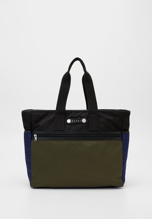 Tote bag - black/ultramarine/forest green