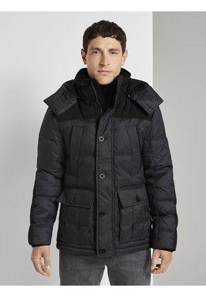 Winter jacket - grey twill structure