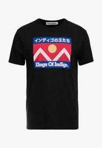 Kings Of Indigo - DARIUS - T-shirt z nadrukiem - black - 3