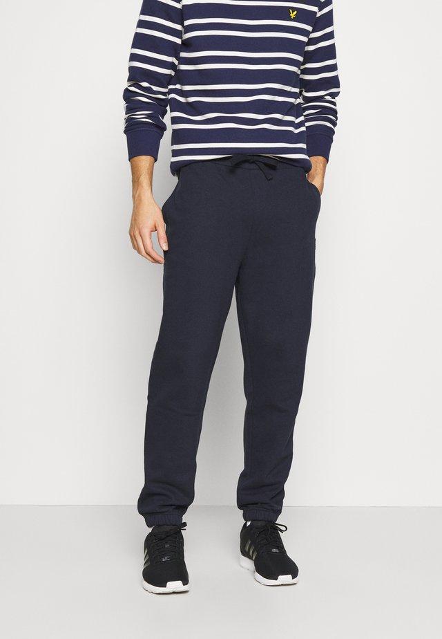 DOUBLE BRUSH TRACK PANT - Teplákové kalhoty - dark navy