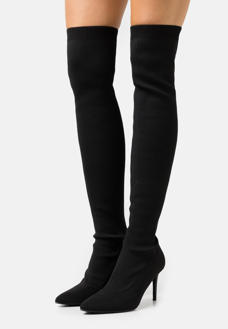 Nly by Nelly - THIGH HIGH BOOT - Boots med høye hæler - black