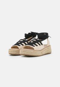 Emmshu - FORTUNE - Platform sandals - beige - 2