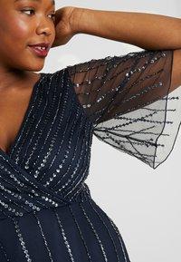 Lace & Beads Curvy - MARTNA - Abito da sera - navy - 5