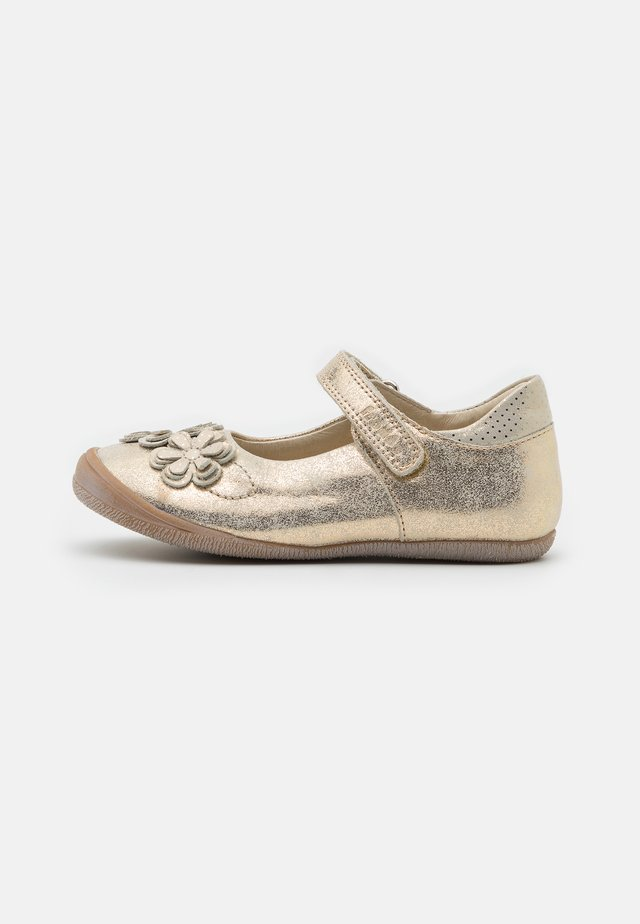 ANA - Ankle strap ballet pumps - gold