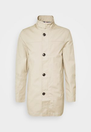STAND UP COLLAR COAT - Short coat - beige