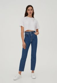 PULL&BEAR - SLIM MOM - Jeans slim fit - dark blue - 1