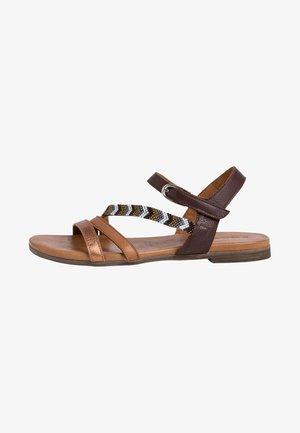 TAMARIS SANDALE - Sandals - mocca