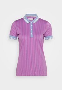 Kjus - WOMEN ELLA STRUCTURE - Polo shirt - pink divine/vista blue - 4