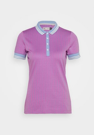 WOMEN ELLA STRUCTURE - Polo shirt - pink divine/vista blue