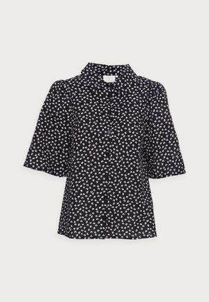 ENCIA - Button-down blouse - black/chalk