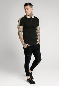 SIKSILK - SIKSILK PREMIUM TAPE  - Polo - black & off white - 1
