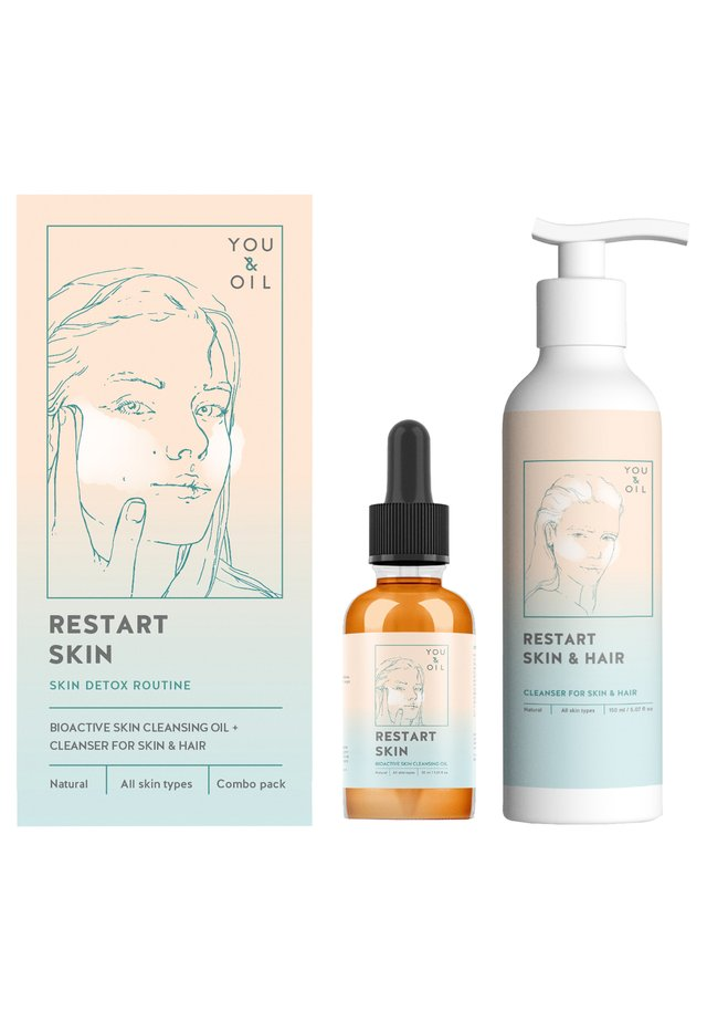CLEANSING COMPLEX FOR SKIN:CLEANSING OIL + CLEANSER - Zestaw do pielęgnacji - -