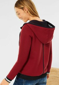 Cecil - MIT STRUKTUR - Zip-up sweatshirt - braun - 2