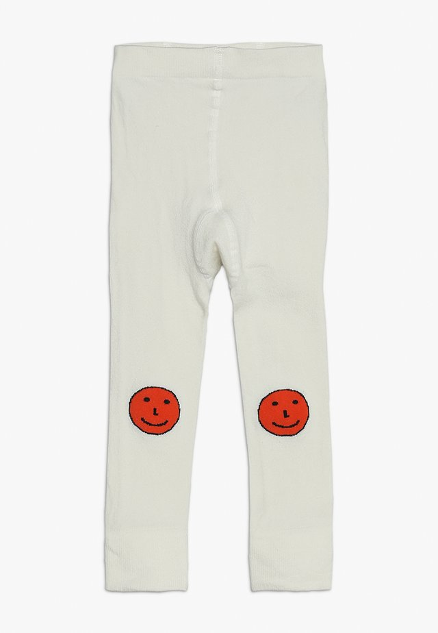 HAPPY FACES - Leggingsit - off-white/red