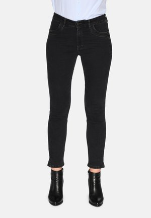 Jeans Skinny Fit - black w used effect