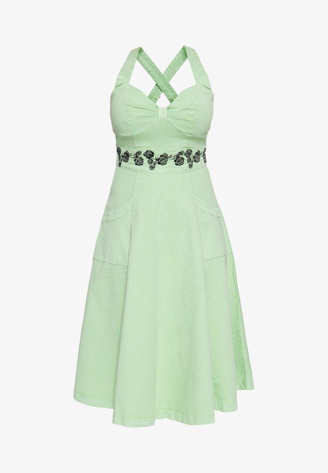 MIT FLORALER STICKEREI - Day dress - mint