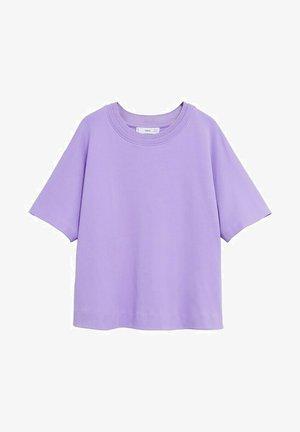 MET DUBBELE HALSBOORD - T-shirt basic - licht/pastelpaars