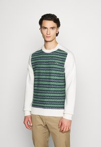 Lacoste LIVE - Pullover - abysm/green/flour - 0