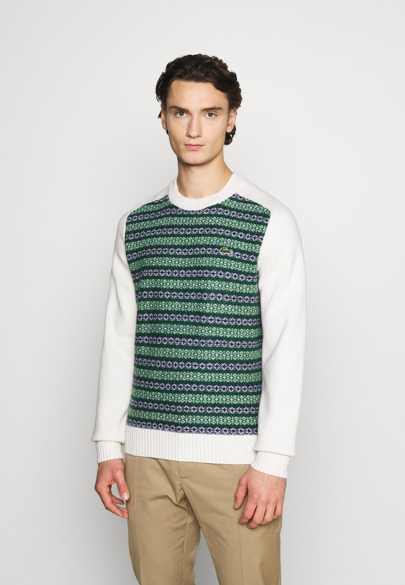 Lacoste LIVE - Pullover - abysm/green/flour
