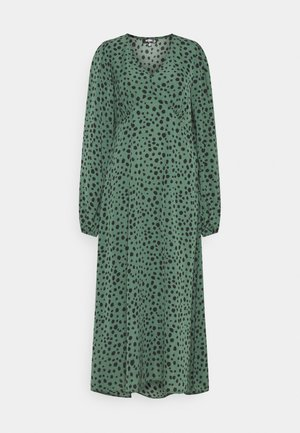 V NECK SMOCK DRESS DALMATIAN - Day dress - green