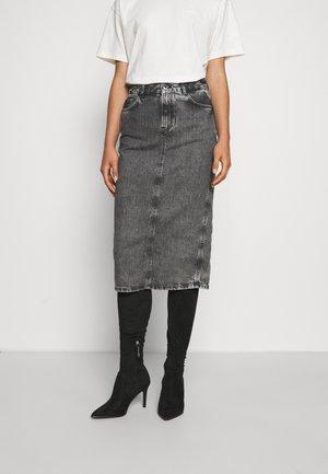PIPER - Denim skirt - black