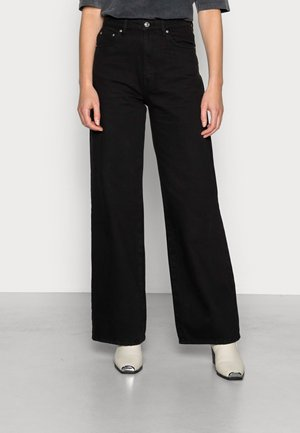 IDUN WIDE - Relaxed fit jeans - black