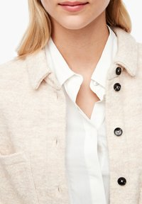 s.Oliver - Button-down blouse - light sand melange - 4
