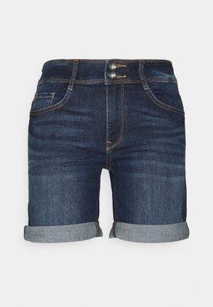 ALEXA BERMUDA - Denim shorts - dark stone wash denim
