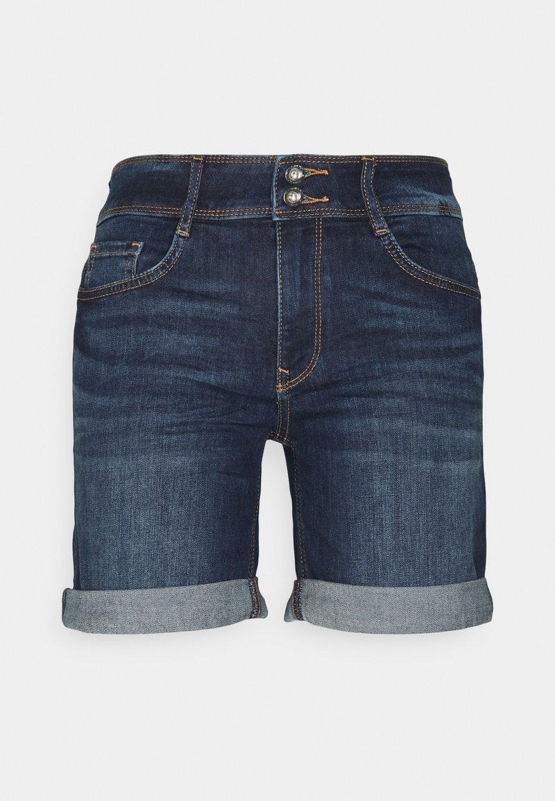 TOM TAILOR - ALEXA BERMUDA - Denim shorts - dark stone wash denim