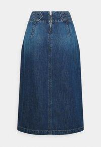 TRAPUNTO MIDI SKIRT - Denim skirt - frame blue
