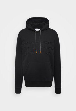 GRAPHIC EMBROIDERY HOODIE - Hættetrøjer - black